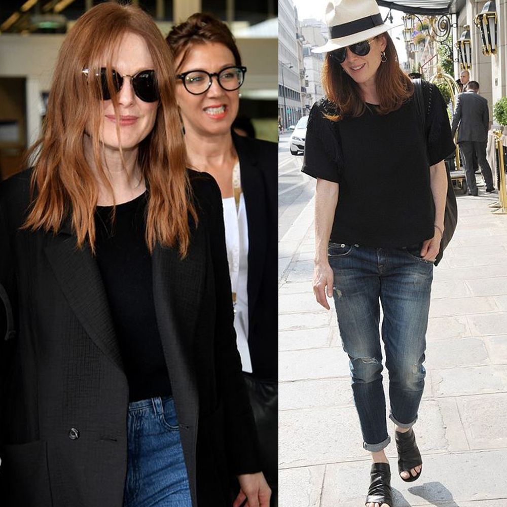Spunti over 50 per un look alla Julienne Moore
